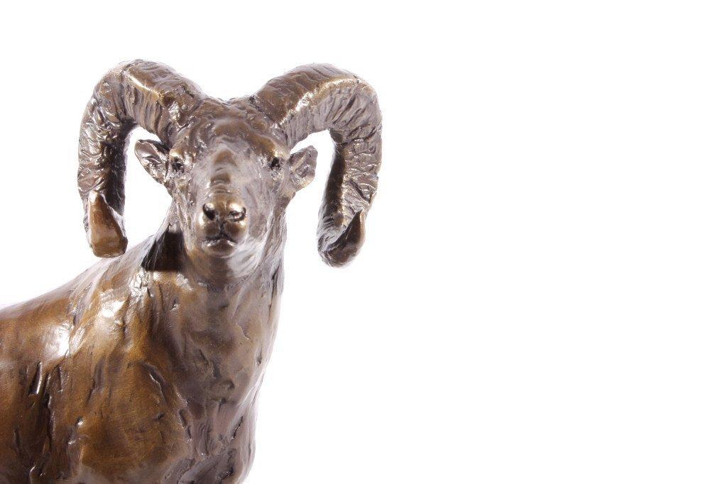 In Season Bighorn Ram Bronze by Bob Scriver - 9