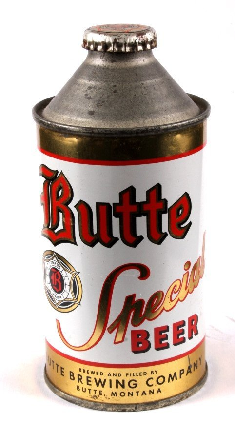 Butte Special Beer Cone Top Can with Cap