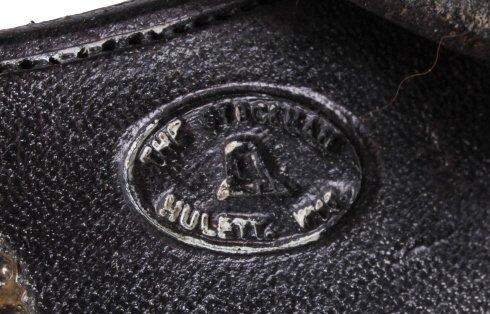 "Fleming Silver Mounted Spurs Custom Marked ""JFK"" - 8"