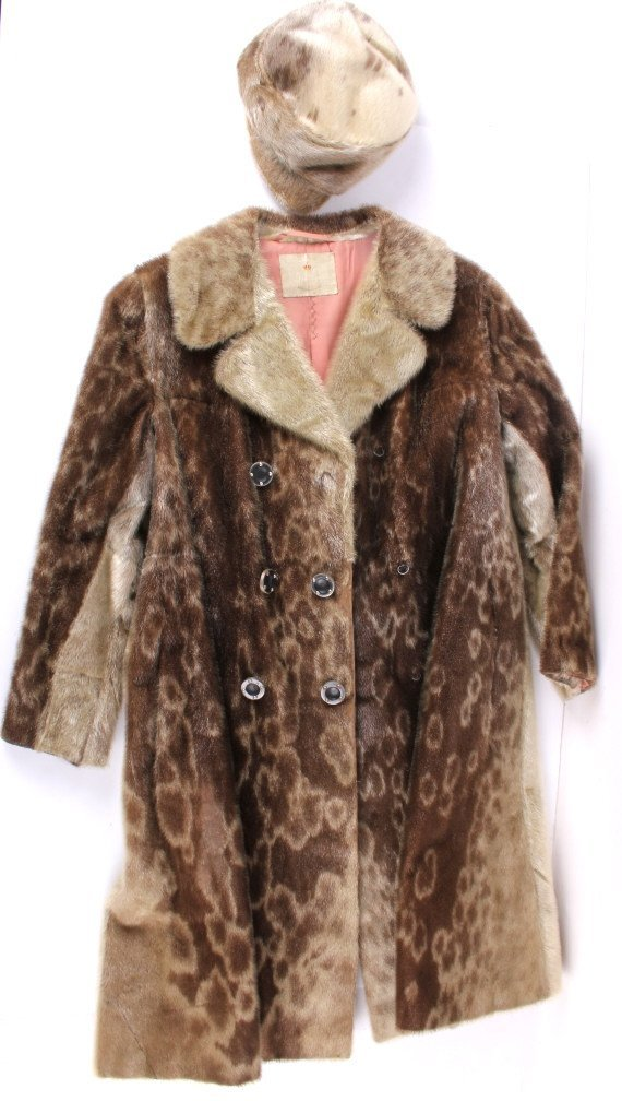 Magasin Du Nord Seal Skin Coat With Hat