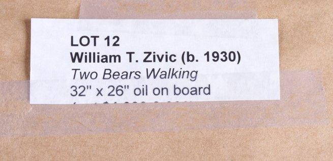 "Original Art Work ""Two Bear Walking"" William Zivic - 10"