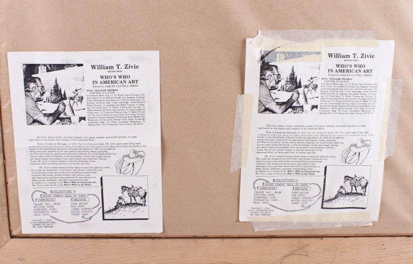 "Original Art Work ""Two Bear Walking"" William Zivic - 8"