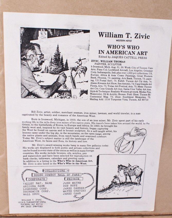 "Original Art Work ""Two Bear Walking"" William Zivic - 9"