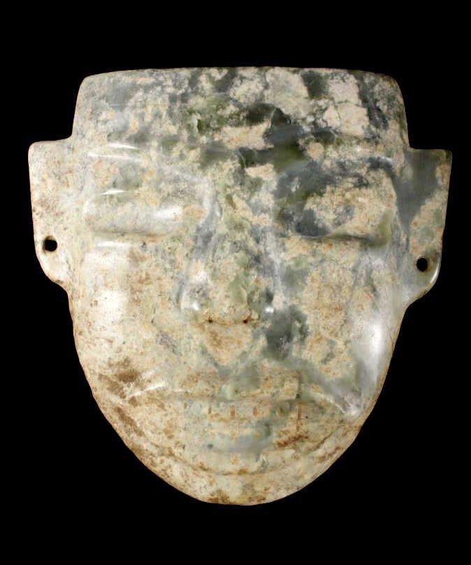 Olmec Pre-Columbian Jadeite Mask 1200-400BCE