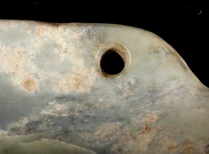 Olmec Pre-Columbian Jadeite Mask 1200-400BCE - 4
