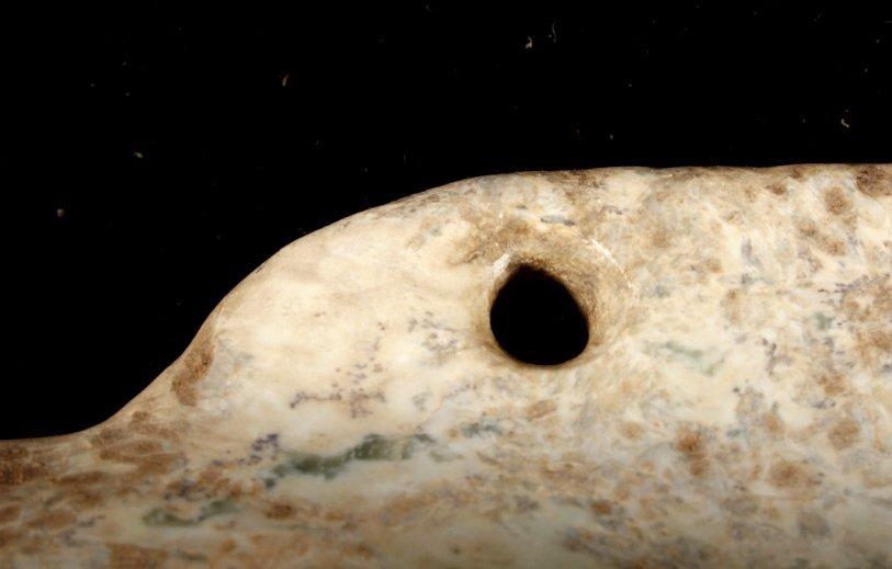 Olmec Pre-Columbian Jadeite Mask 1200-400BCE - 5