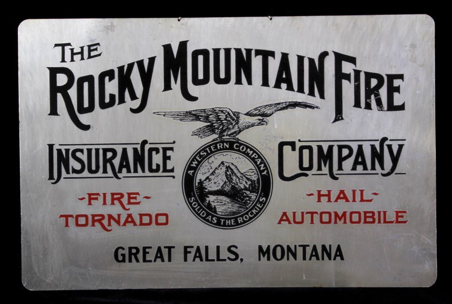 Rocky Mountain Fire Insurance Sign Great Falls MT