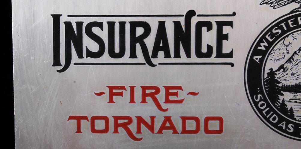 Rocky Mountain Fire Insurance Sign Great Falls MT - 3