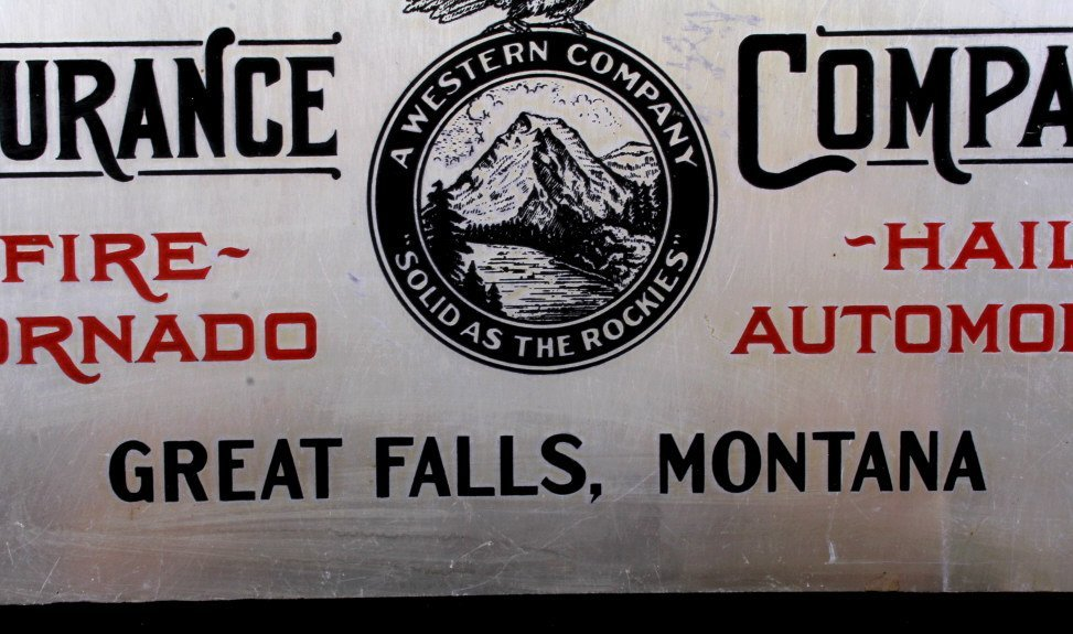 Rocky Mountain Fire Insurance Sign Great Falls MT - 5