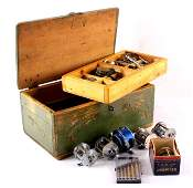Antique Fishing Reel Repair Wooden Box