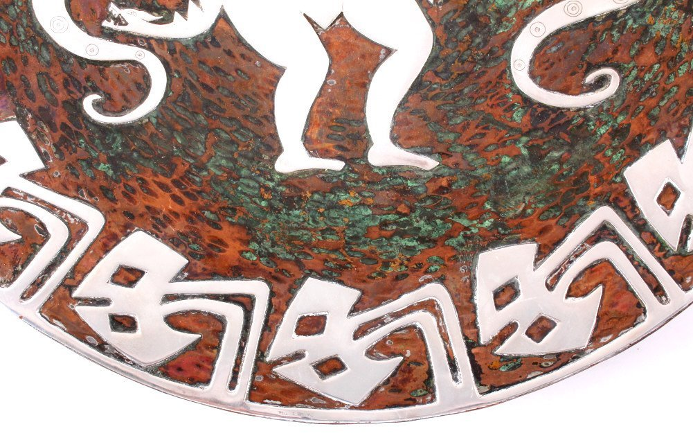 Zuni Copper and Sterling Silver Bear Kachina Art - 9