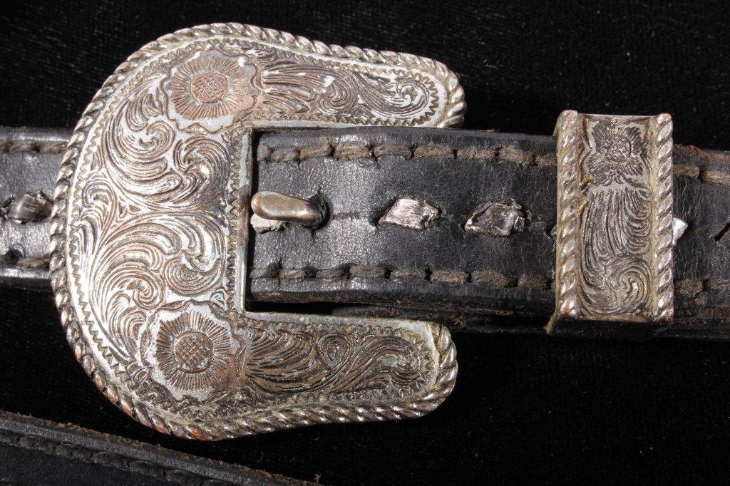Western Silver Mounted Horse Bit & Headstall - 3
