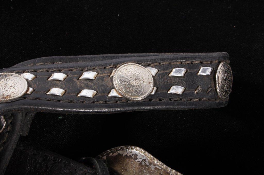 Western Silver Mounted Horse Bit & Headstall - 4