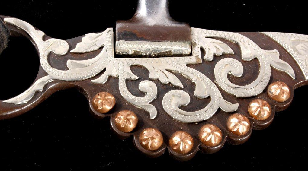 Western Silver Mounted Horse Bit & Headstall - 6