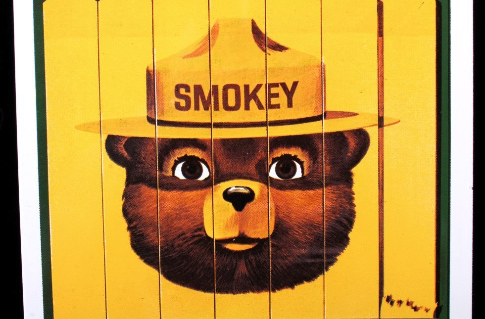 Smokey Bear U.S. Forest Service Porcelain Sign - 8