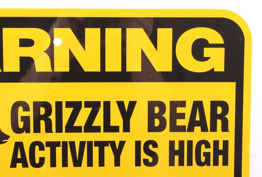 Grizzly Bear Warning Sign from Canada - 7