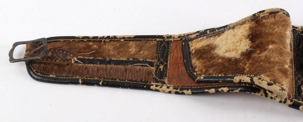 Montana Otter Fur Cowboy Money Belt 19th C. - 3