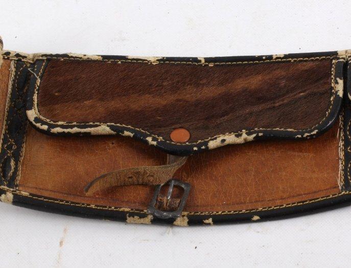 Montana Otter Fur Cowboy Money Belt 19th C. - 4