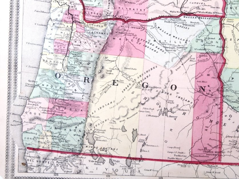 Hand Painted Map Of The North Western U. S. - 6