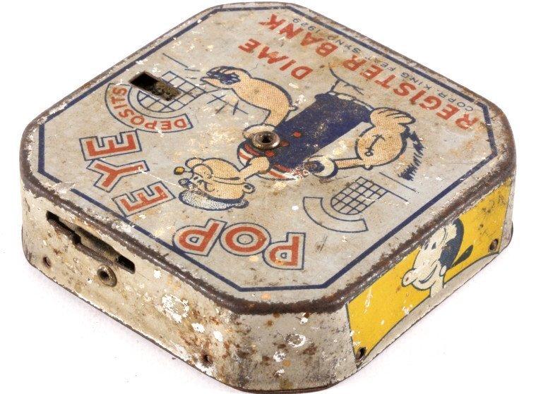 Antique Popeye Dime Register Bank - 3