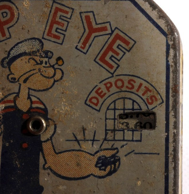 Antique Popeye Dime Register Bank - 5
