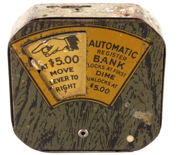 Antique Popeye Dime Register Bank - 6
