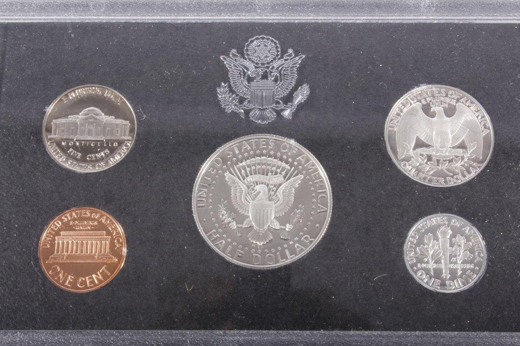 1992-S US Mint Silver Proof Set (5 Coins) - 3