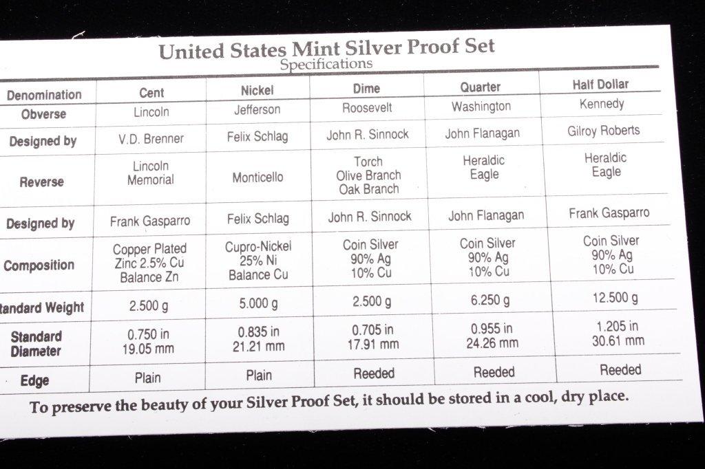 1992-S US Mint Silver Proof Set (5 Coins) - 5