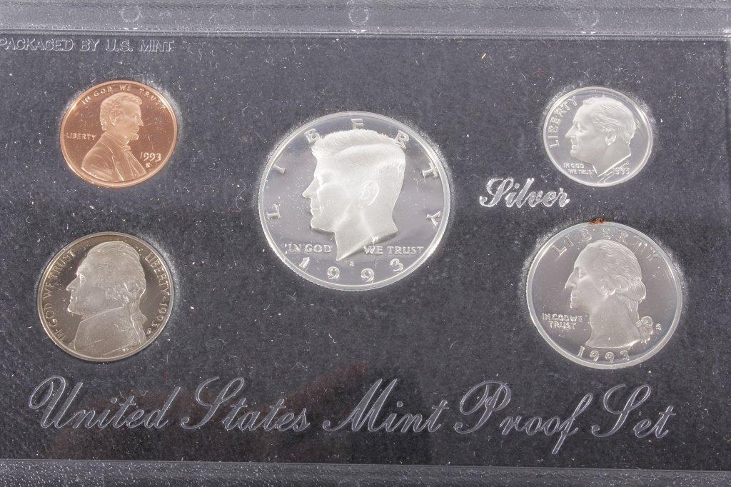 1993-S US Mint Silver Proof Set (5 Coins) - 2