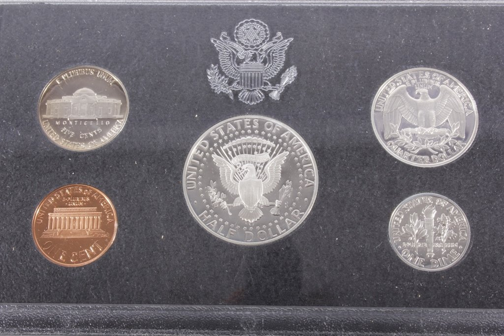 1993-S US Mint Silver Proof Set (5 Coins) - 3