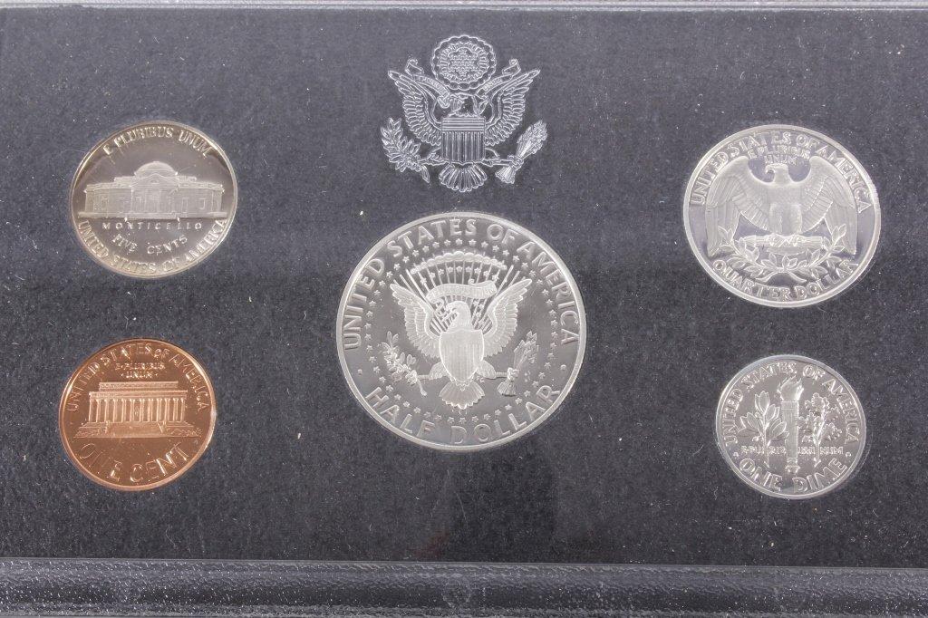 1993-S US Mint Silver Proof Set (5 Coins) - 3