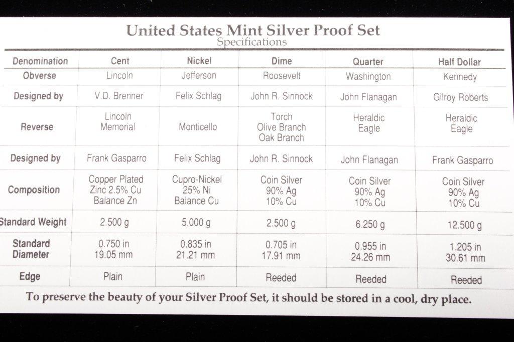 1993-S US Mint Silver Proof Set (5 Coins) - 5