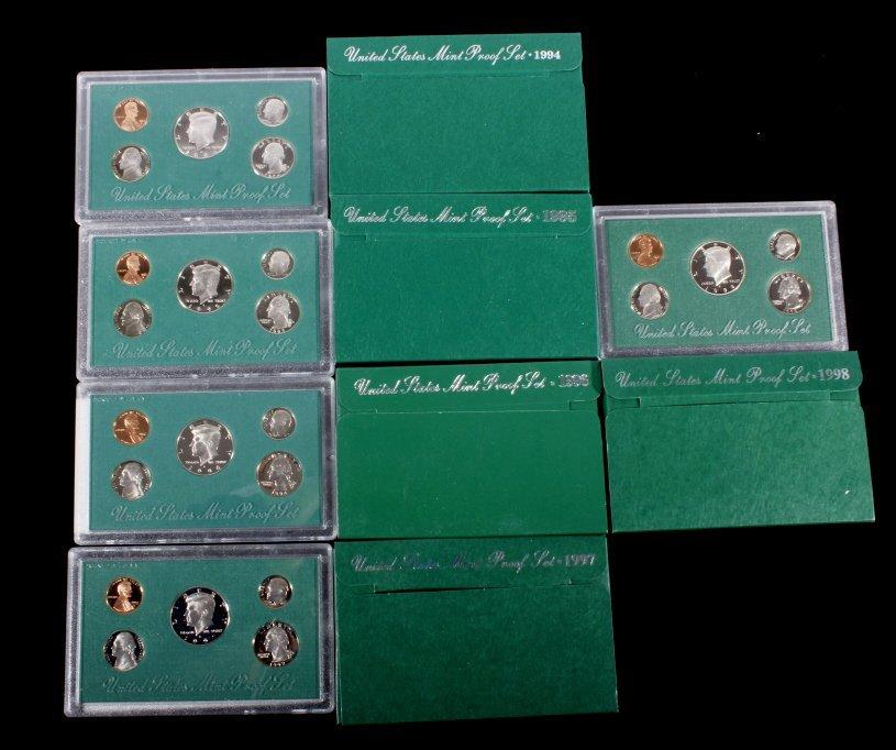 1994-1998 US Mint Proof Sets (5 Sets)