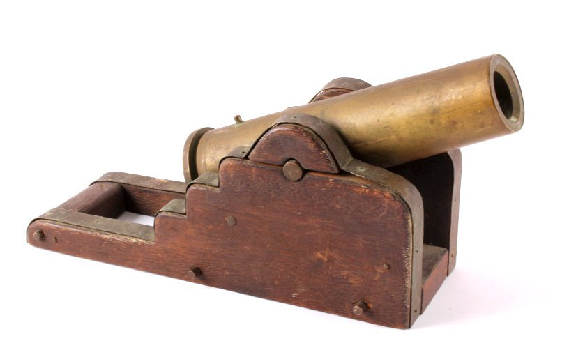 Antique Brass Signal Cannon