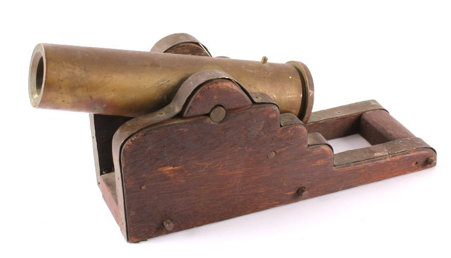 Antique Brass Signal Cannon - 2