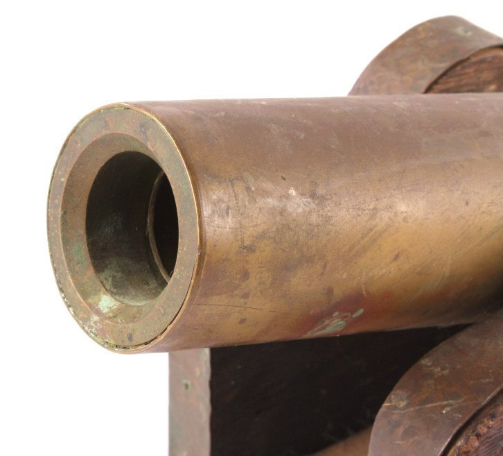 Antique Brass Signal Cannon - 3