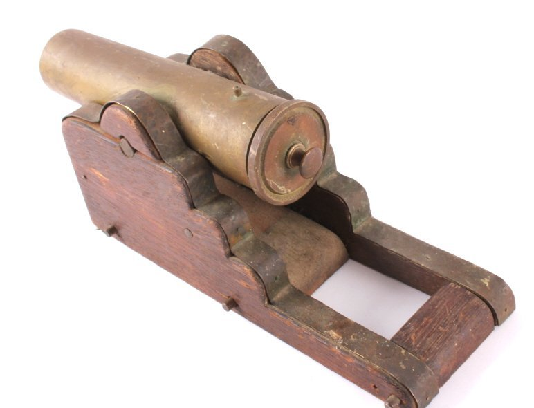 Antique Brass Signal Cannon - 4