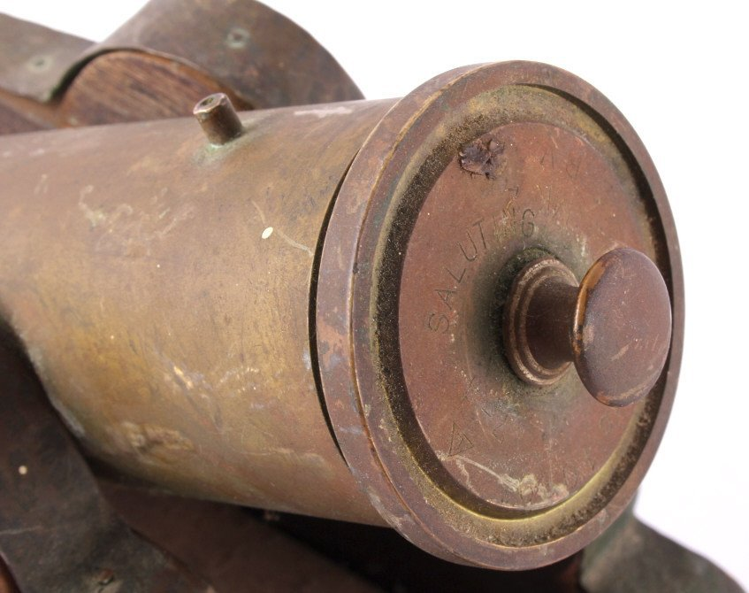 Antique Brass Signal Cannon - 5