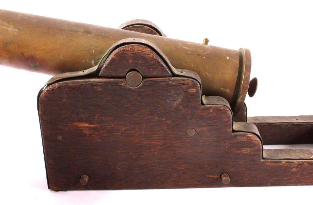 Antique Brass Signal Cannon - 7