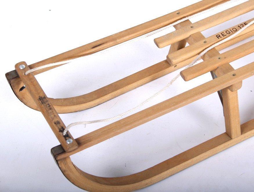 Norwegian Sledge Wood Sled - 2