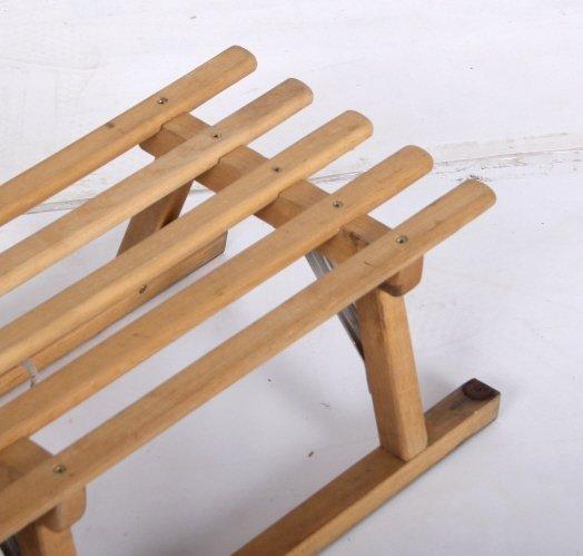 Norwegian Sledge Wood Sled - 4