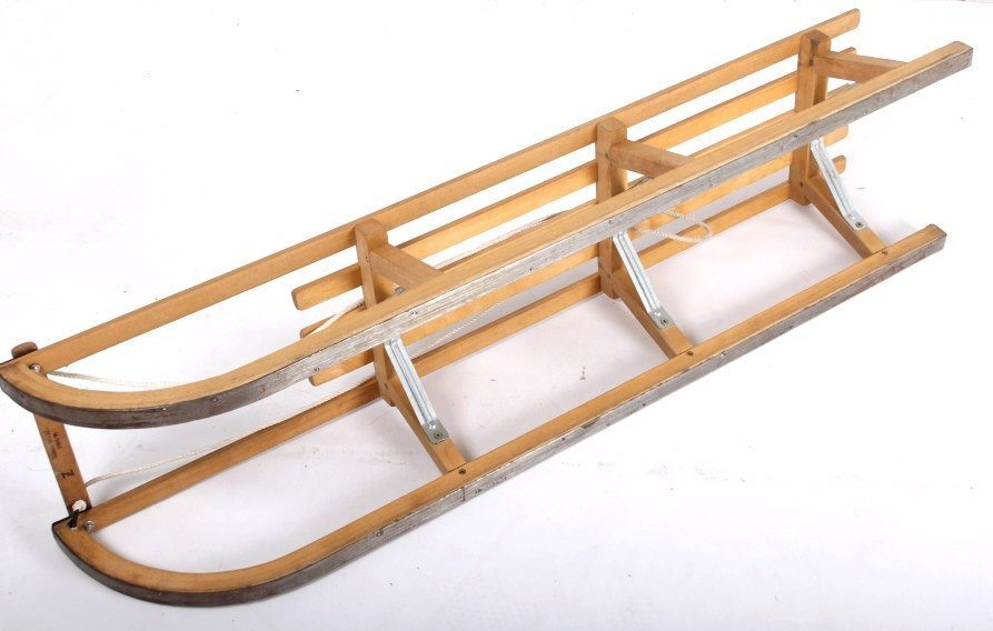 Norwegian Sledge Wood Sled - 6