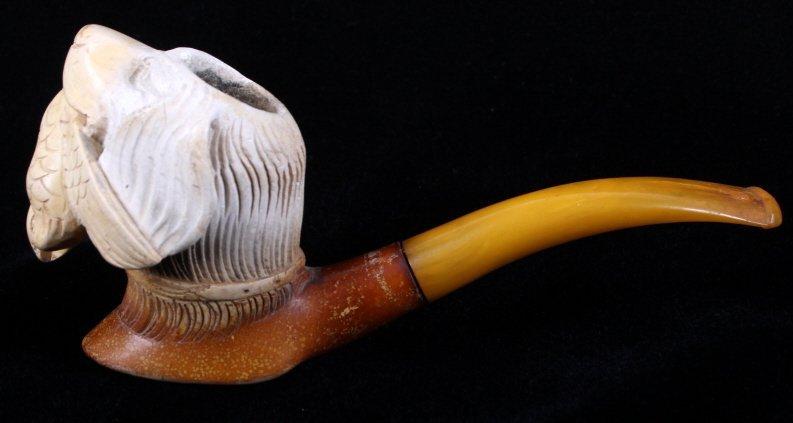 Hand Carved Meerschaum Pipe - 4