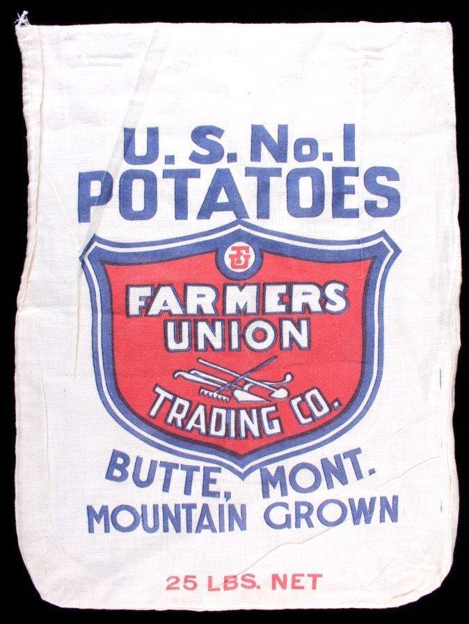 Farmers Union Potato Sack Butte Montana