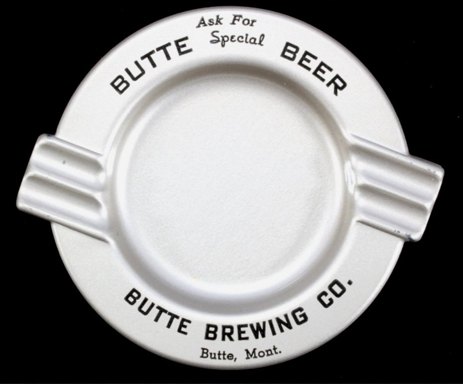 Butte Brewing Company Ashtray Tip Tray NOS