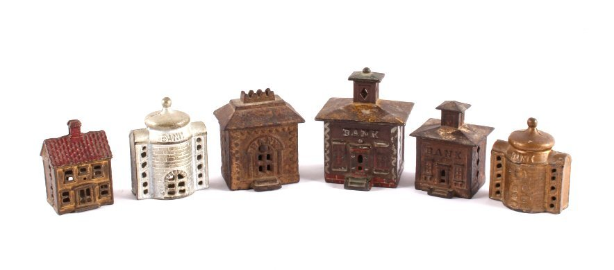 Antique Cast Iron Coin Bank Collection