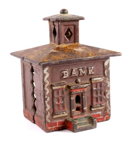 Antique Cast Iron Coin Bank Collection - 2