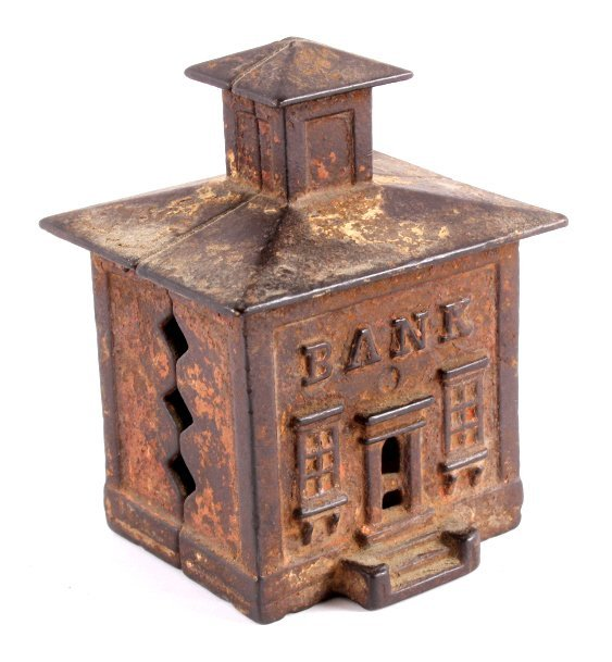 Antique Cast Iron Coin Bank Collection - 7