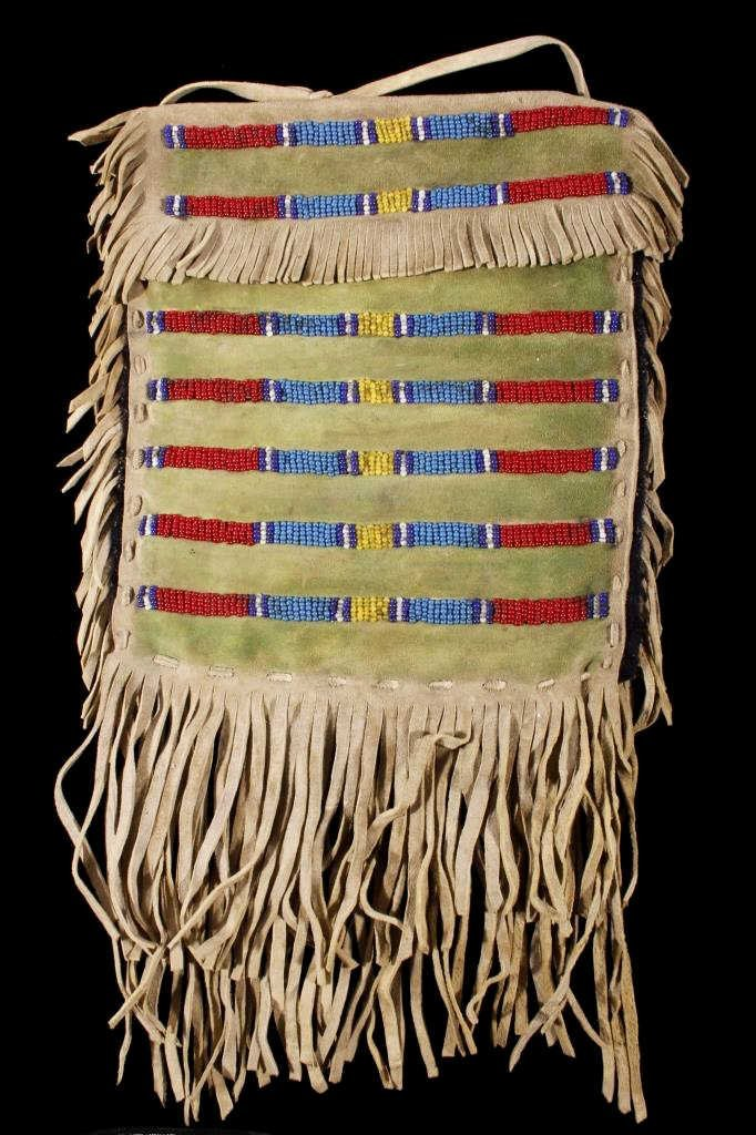Sioux Beaded Possibles Tepee Bag 19th C. Beads