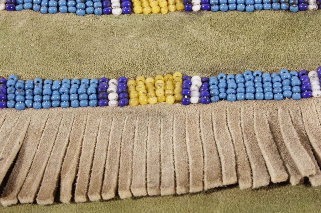 Sioux Beaded Possibles Tepee Bag 19th C. Beads - 4